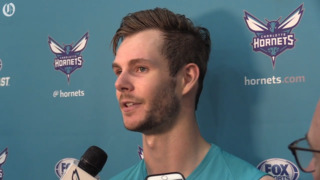 Connor Burchfield attends Charlotte Hornets pre-draft workout