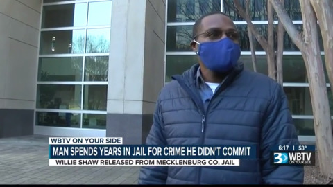 Man released from Mecklenburg jail after wrongful conviction