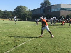 Country Day-East Lincoln football scrimmage