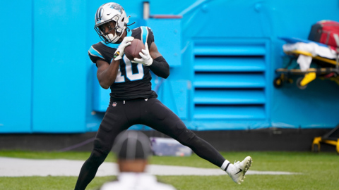 Panthers' Wide Receiver Curtis Samuel explains his celebration dance after scoring in the second half