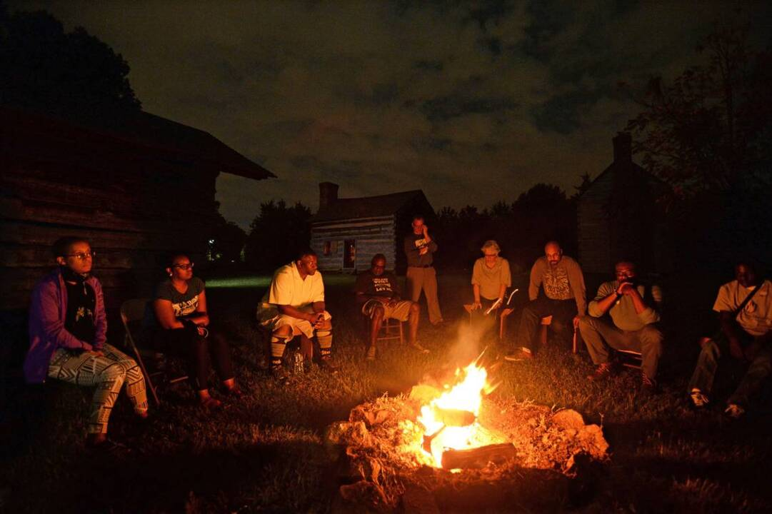 For one night, that was my family:' Cabin sleepover brings