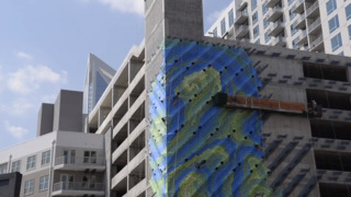 Uptown parking deck becomes public art