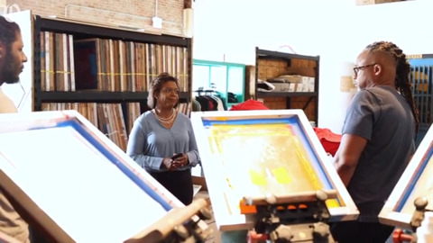Cheri Beasley former N.C. Chief Justice visits small businesses in Charlotte