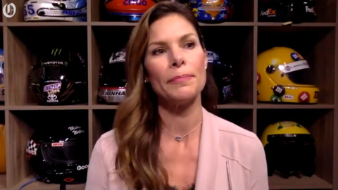 Female NASCAR reporter doesn't set out to be first, doesn't shy away either