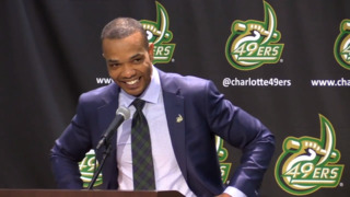 Charlotte 49ers introduce new men's basketball coach