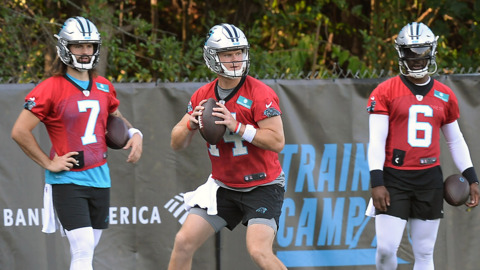 Panthers Rhule wants quarterbacks to have bad days so they continue to grow
