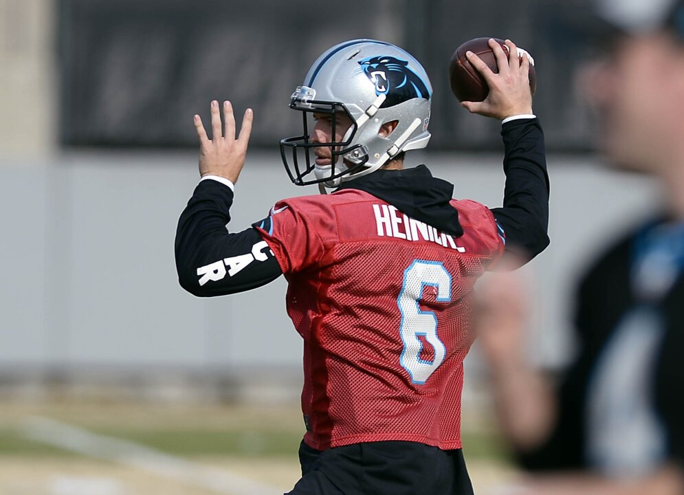 3429645d3 Panthers backup QB Taylor Heinicke readies for 1st start