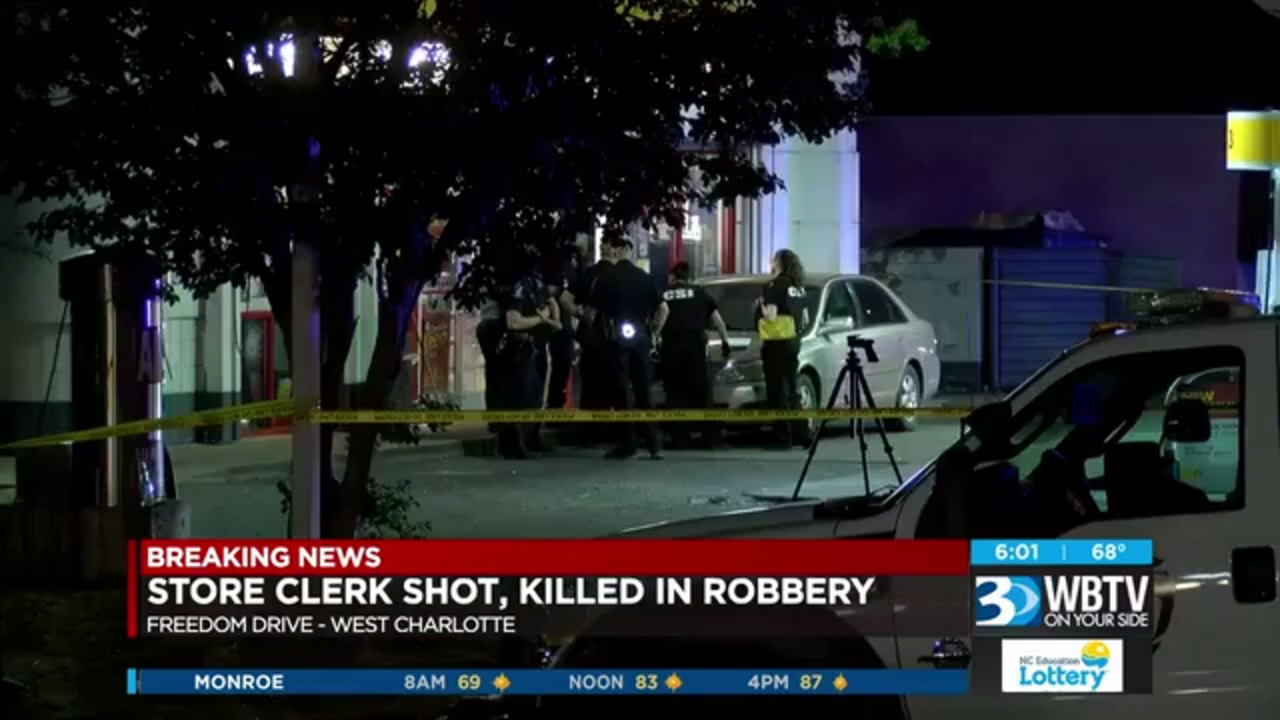 Store clerk shot and killed in West Charlotte gas station