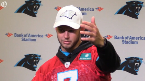 Panthers' Kyle Allen thinks back on his first NFL action against the Falcons