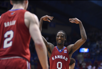Marcus Garrett leads Kansas on Senior Night as Jayhawks send Baylor to its first loss