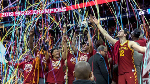 At home in Kansas City: Iowa State tops Kansas for Big 12 Tournament title