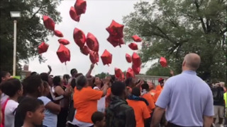 Vigil for Ira 'Skinny' Brown, who was killed at Inner City Oil on 59th and Swope Parkway