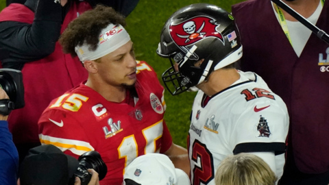 Patrick Mahomes discusses offense, defense, his toe and a Madden photo shoot with Tom Brady