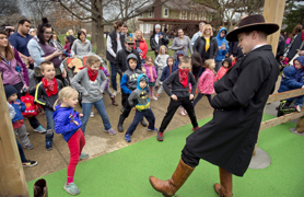 Grand reopening was a wild scene on the streets of Dodge Town in Antioch Park