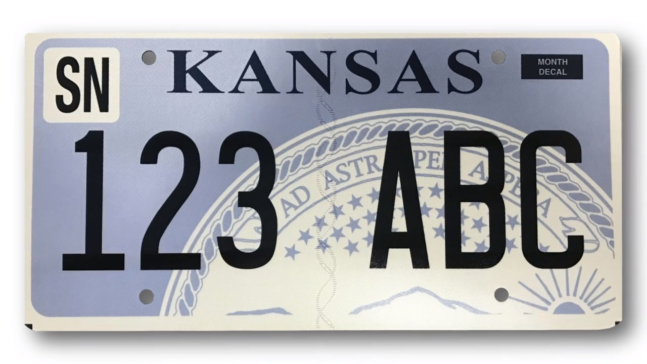 Kansans getting new plate should keep track of that decal