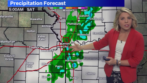 Showers, thunderstorms to affect early Saturday morning plans in Kansas City