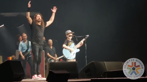 The Shawnee kid who rocked a Foo Fighters stage wants to redirect your attention