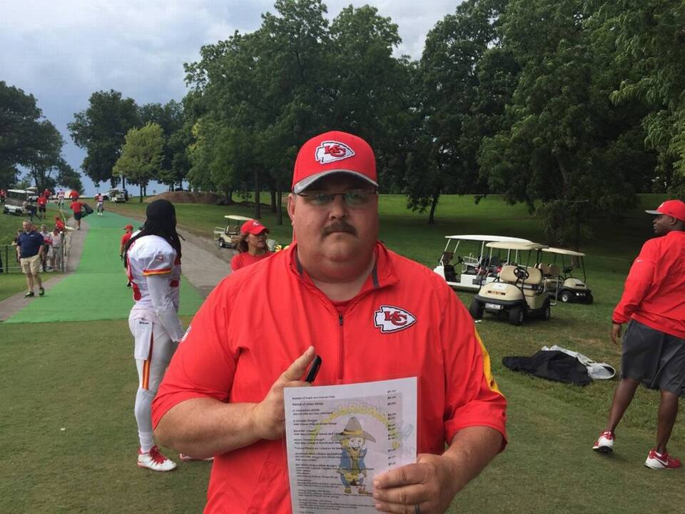 CBS used photo of fan dressed as coach Andy Reid while talking about Chiefs