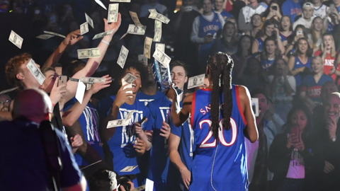 Self's speech precedes Snoop Dogg's performance at KU's Late Night in the Phog