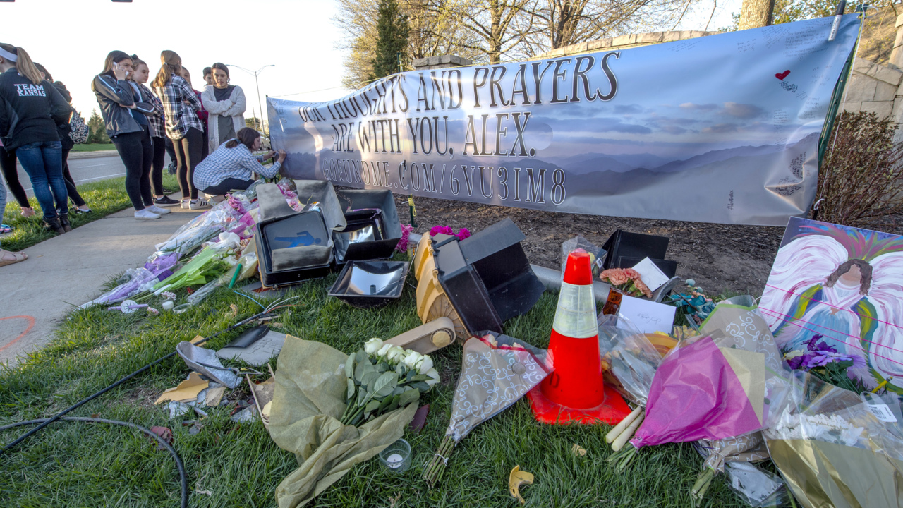 Blue Valley student hit, killed by car remembered at vigil