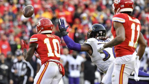 Chiefs receiver Tyreek Hill shows again that he is so much more than mere speed