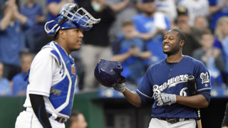 Brewers' Cain enjoys feeling from cheering Royals crowd