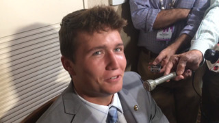 Mizzou quarterback Drew Lock at SEC Media Days
