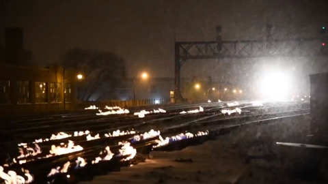 Metra Rail fights frigid winter weather with flames at busiest rail interlock in Chicago