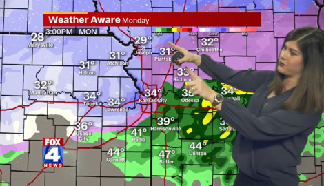 Kansas City to miss the heaviest snowfall from a winter storm passing through the area