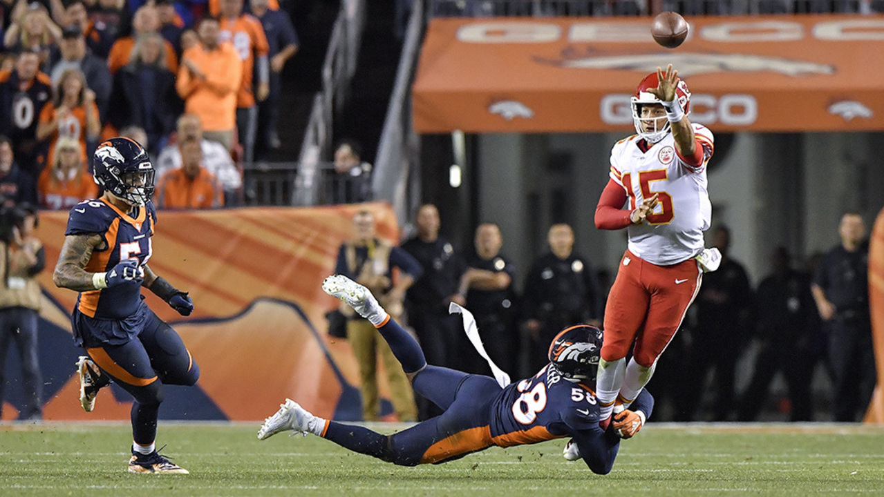 Image result for mahomes left handed pass