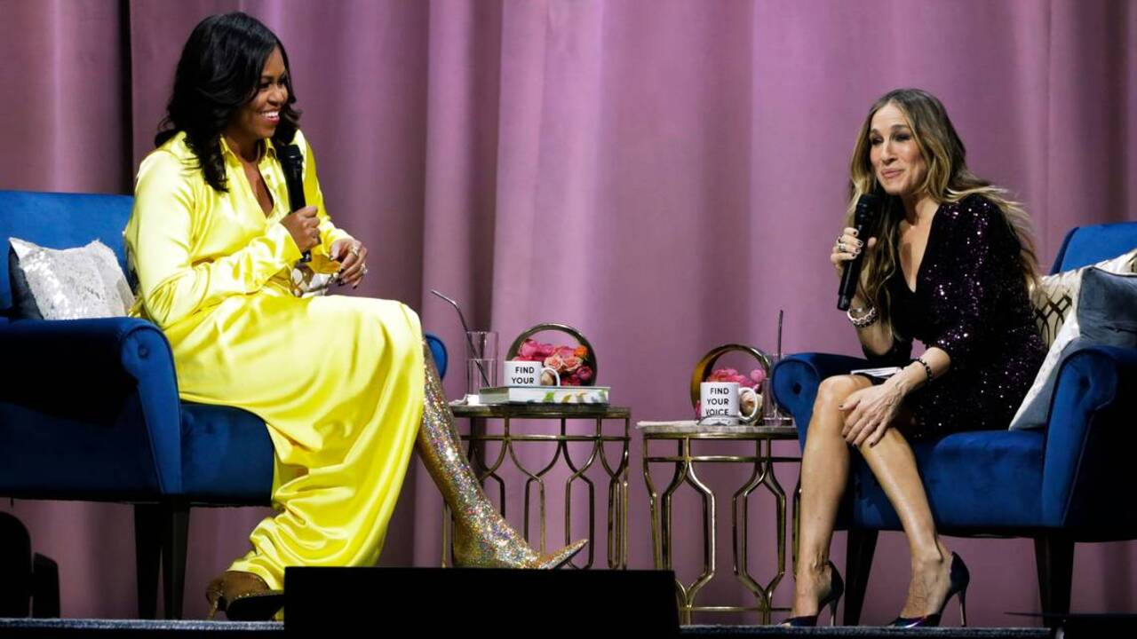 Michelle Obama Turns Heads In 4000 Gold Balenciaga Boots The