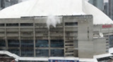 Watch: Ice slides off of the Rogers Centre roof in Toronto
