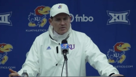 Full Les Miles press conference after KU's 59-23 loss to TCU