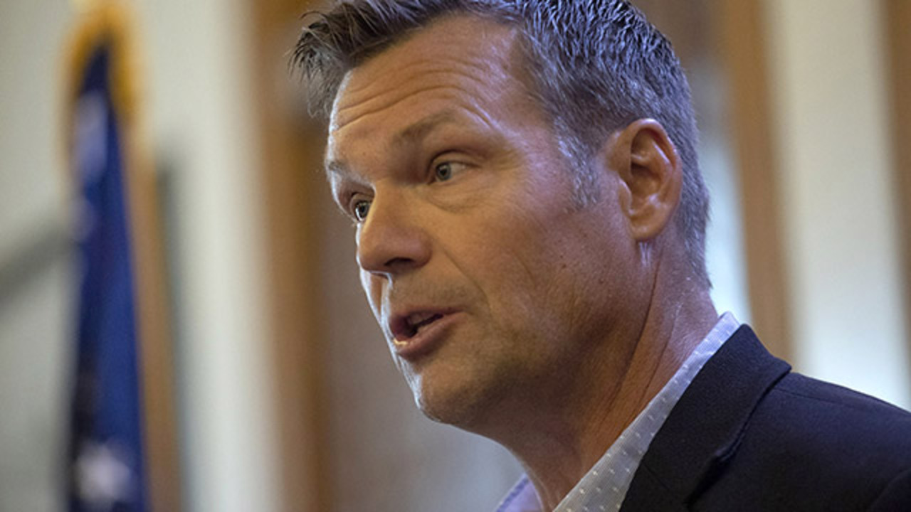 Trump tried to call Kris Kobach during his meeting with Roger Marshall, sources say