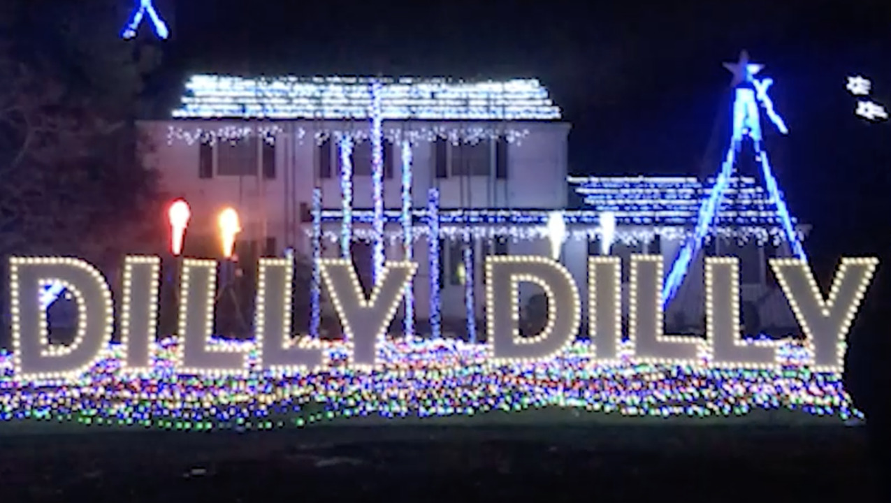 This 'Dilly Dilly' themed Christmas display is over the top
