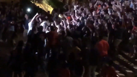 Virginia students celebrate national title in Charlottesville