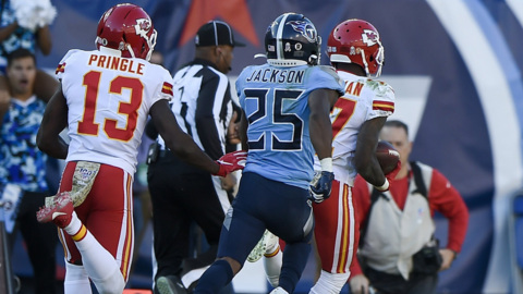 Chiefs' Mecole Hardman on his TD reception against the Titans