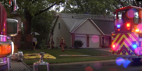 Lightning strikes homes in Overland Park, Lee's Summit, starting fires during storms