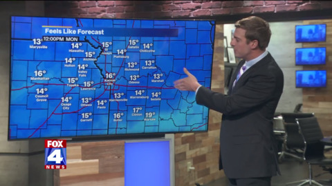 Cold weather coming to KC Sunday night, with chance of rain turning to snow