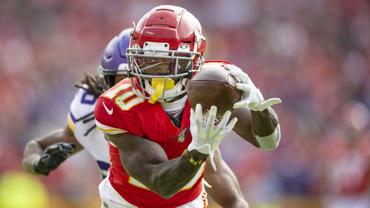 Beyond Mahomes, no one animates Chiefs, or raises their ceiling, like Tyreek Hill