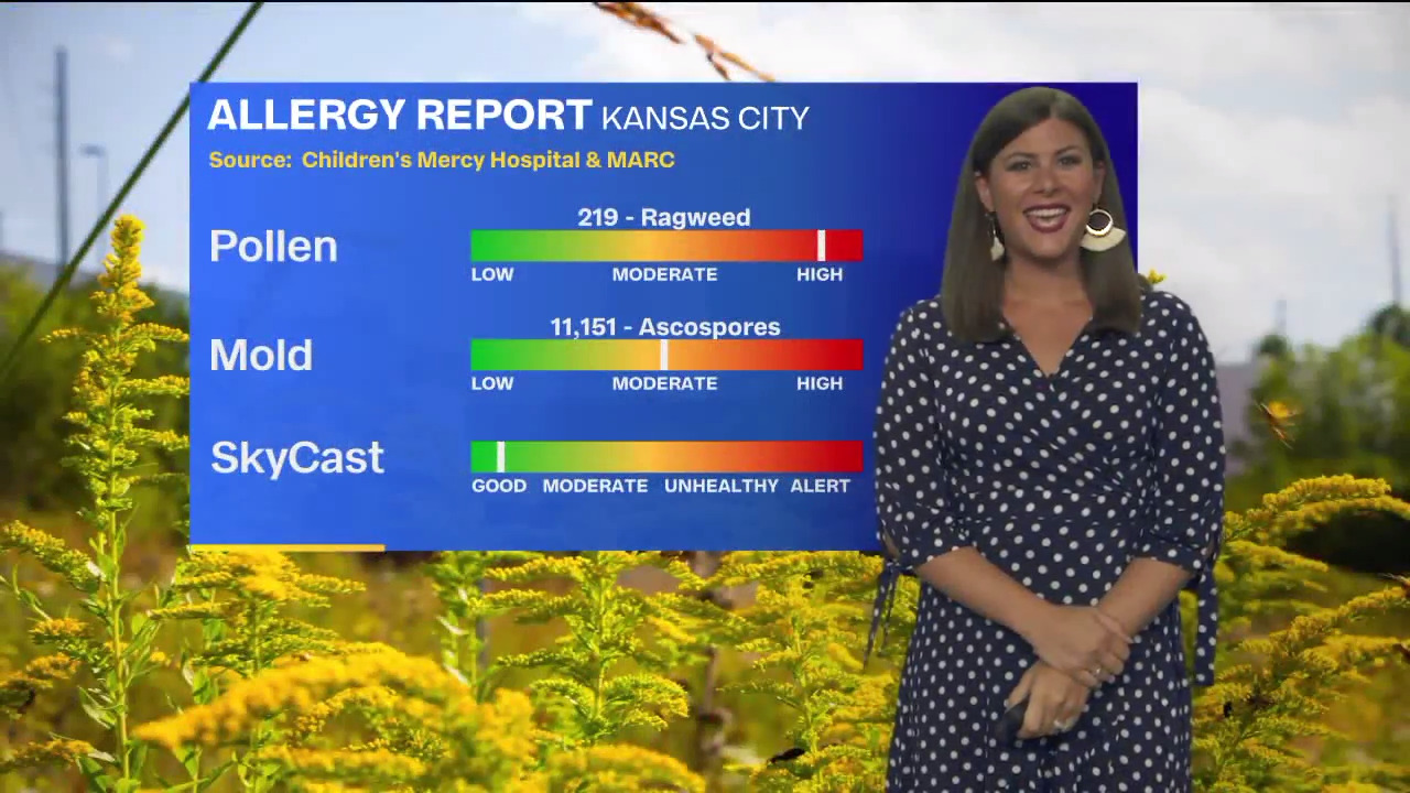 Your KC-area weekend forecast: comfortable temps but those with allergies may suffer