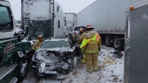 One killed in massive I-70 pileup near Oak Grove. Driver describes scary experience