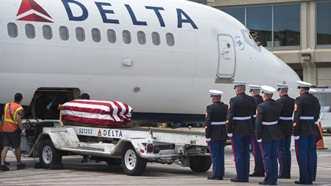 Home at last: Remains of KCK Marine killed in WWII returns to family after 75 years