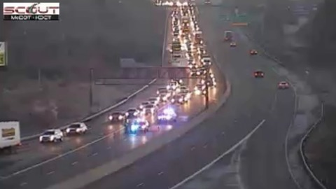Left lanes remain closed on Interstate 35 in both directions in Northland just before height of Monday morning commute