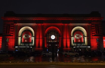 A vision in red: See how Kansas City is celebrating Chiefs pride in lights