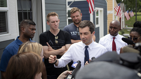 """I'm gonna be sharing the story,"" Pete Buttigieg impressed by Veterans Community Project"
