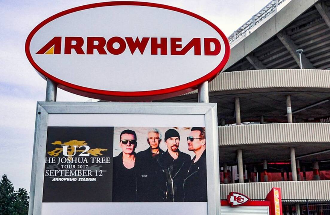 - The Joshua Tree Tour 2020  Arrowhead Stadium  September 12 What's the best U2 song? Generations of KC fans pick their