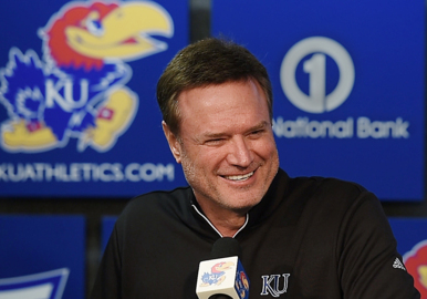 Will Bill Self head to the Chiefs game on Sunday?