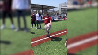 Boy with Down syndrome hits home run, does amazing celebratory dance