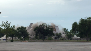 Raw video: Old Park Place hotel imploded Sunday morning